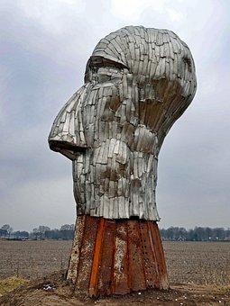 Sculpture, Netherlands, Art, Artistic, Sky, Clouds
