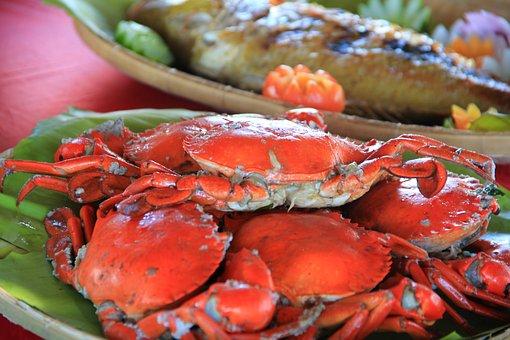 Crabs, Seafood, Sea, Palawan, Fresh, Food