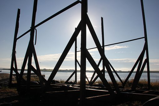 Boat Launcher, Seaside, Backlit, Early Morning, Ireland