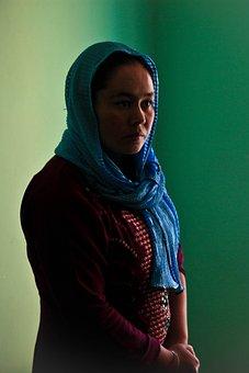Afghanistan, Head Wrap, Woman, Portrait, Female, Shy