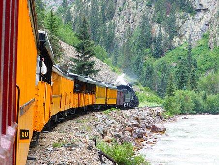 Durango, Steam Train, Colorado, Silverton, Railroad