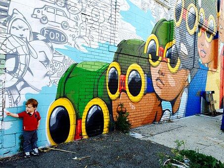 Street Art, Graffiti, Detroit