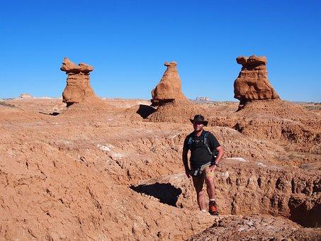 Man, Tourist, Sightseeing, Utah, Goblin Valley
