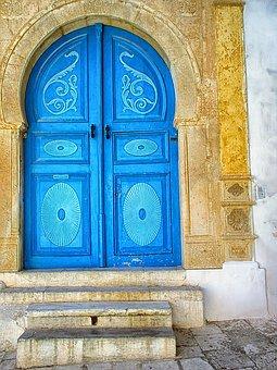 Door, Blue, Beautiful, Sidi Bou Said, Tunisia
