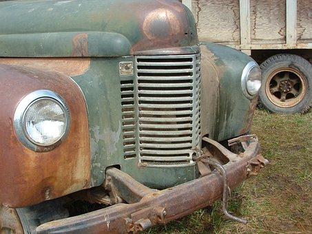 Truck, Old, Vintage, Rusted, Rusty, Rust, Vehicle, Farm