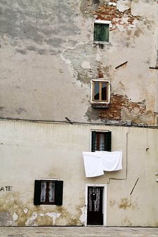 Venice, Street, Genre Painting, House, Italy