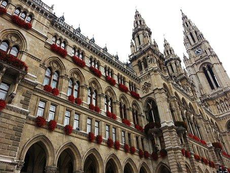 Austria, Vienna, Vienna City Hall, Building, Historical