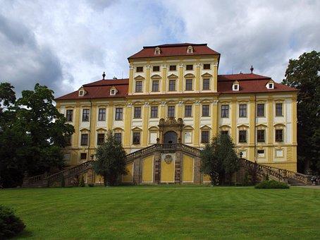 Castle, Statuary, Jan Brokoff, Hotel, Restaurant