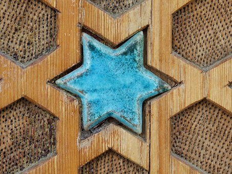 Star, Turquoise, Ceramic, Beautiful, Inlay