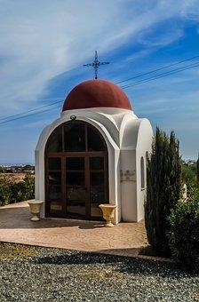 Cyprus, Paralimni, Oratory, Red, Chapel