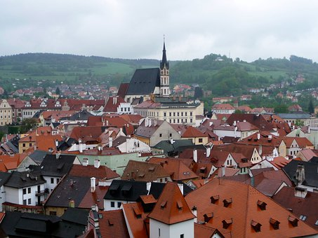 Chesky Krumlov, City, Architecture, Rooftop
