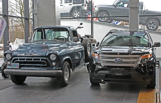 Pickup, Ford, Chevrolet, Classic, Vehicle, Auto