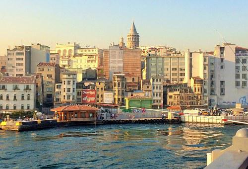 Istanbul, Turkey, City, Water, River, Sea, Buildings