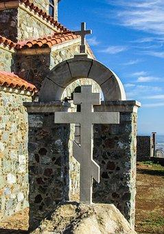 Cyprus, Stavrovouni, Ayii Pantes, Oratory, Cross