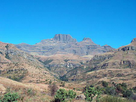 South Africa, Drakensburg, Mountains, Landscape