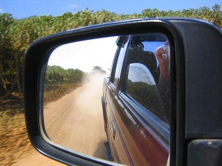 Offroad, Look In Side Mirrors, Dust