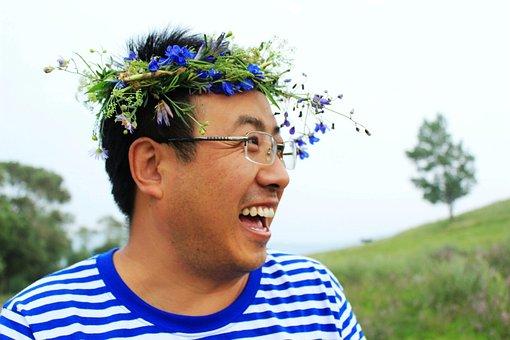 Smile, Happy, Travel, Corolla, Fengning, Man, Wreath