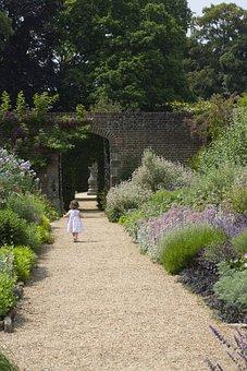 Nymans, Garden, Child, Walk, Summer, View, Landscape