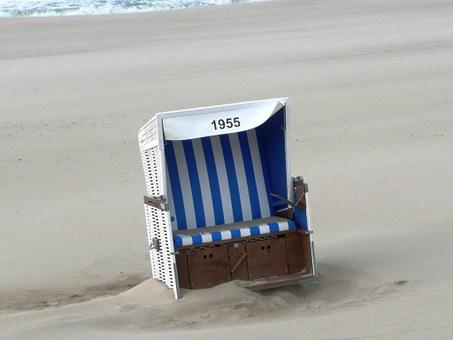 Beach Chair, Forward, Sand, Gone With The Wind, 1955
