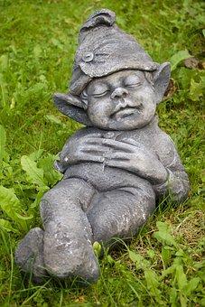 Grass, Meadow, Fig, Garden Figurines, Sleeping