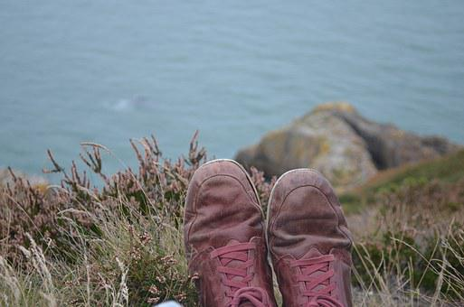 Shoes, Hipster, Water, Grasses, Howth