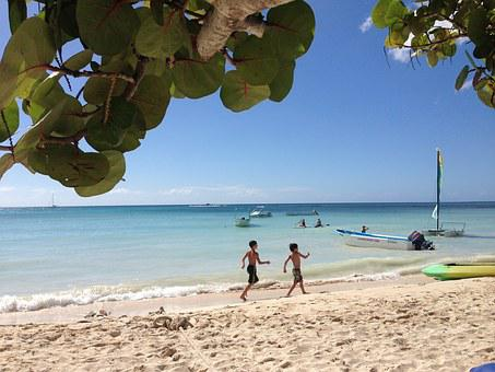 La Romana, Caribbean, Beach, Play, Children, Human, Boy