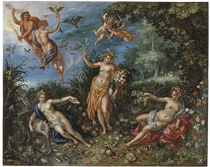 Jan Brueghel, Painting, Abundance And The Four Elements