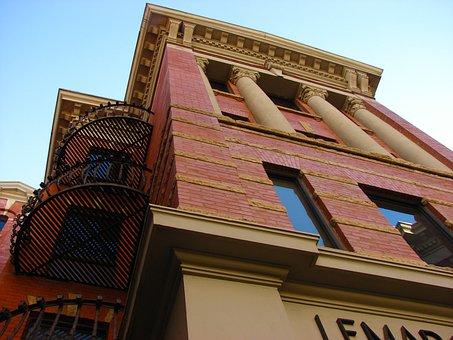 Brick Buiding, Facade, Architecture, Landmark, Building
