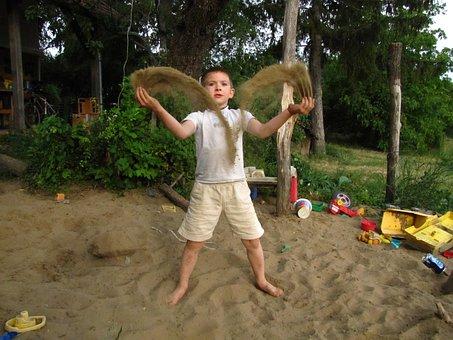 Kid, Plays, Sand, Sandbox, Little Boy, Boy, Little Kid