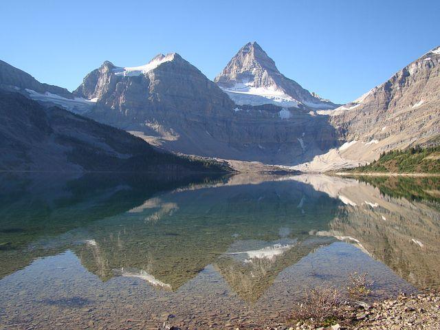 Mt Assiniboine, Magog Lake, Lake, Mountains, Scenic
