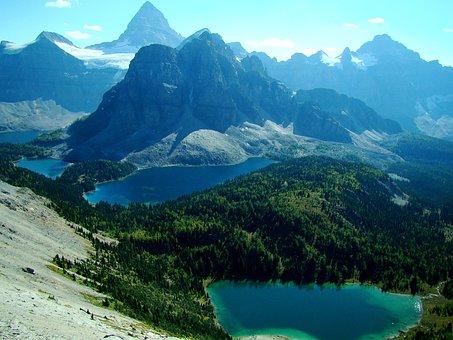 Mt Assiniboine, Mountains, Lake, Nature, Rockies