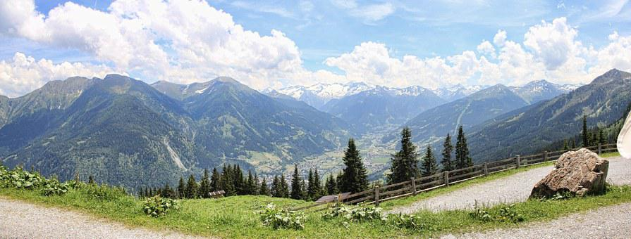 Panorama, Gastein, Gastein Valley, Mountains