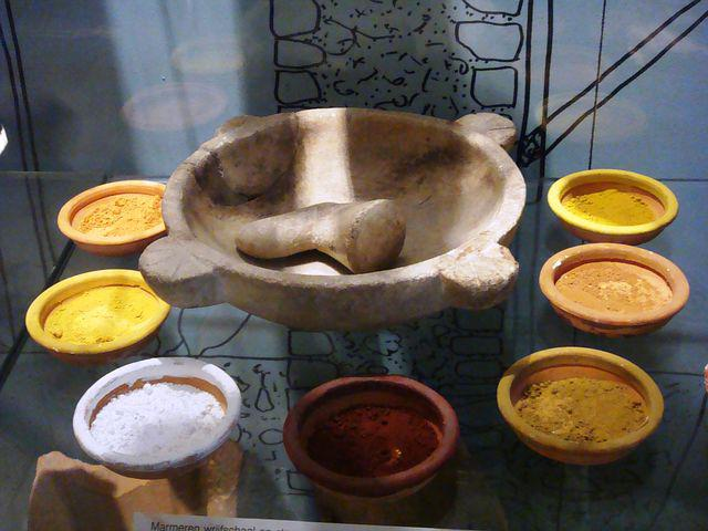 Ceramics, Pottery, Bowl, Pigment, Rub