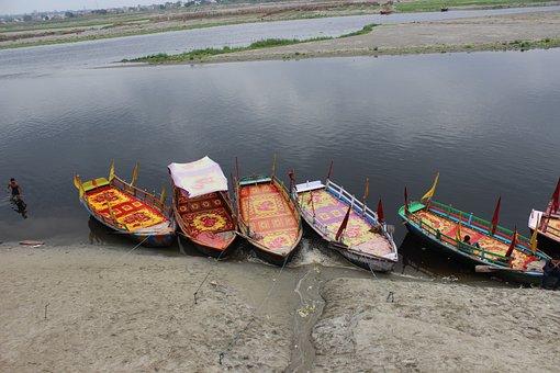 Boat, Water, Uttar Pradesh, Relgious, River, Nature