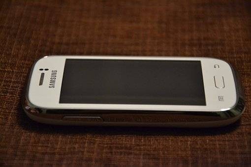 Samsung, White, Phone, Smarfon, Cell, Cellular Phone