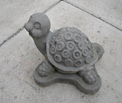 Turtle, Figurine, Garden Decoration, Stone, Cute