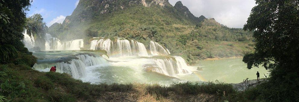 Waterfall, Detian, High By, Vietnam, Water