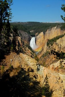 Canyon, Waterfall, Yellowstone