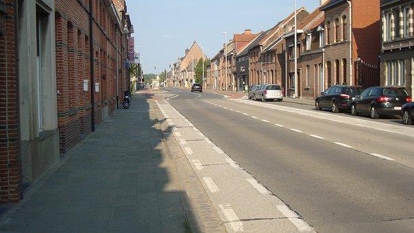 Temse, Belgium, Street, Architecture, Building, City