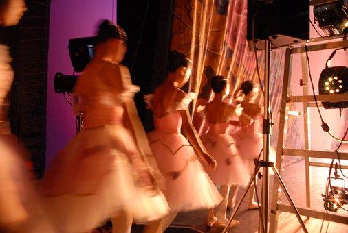 Ballet, Dancers, Backstage, Stage, Lighting, Girl