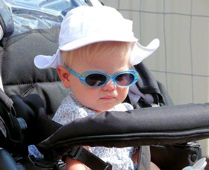 Child, Stroller, Solar Glasses