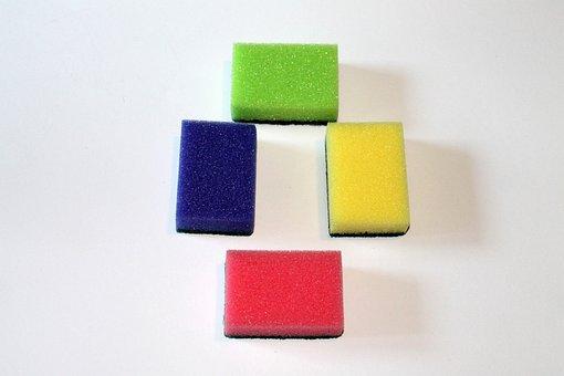 Sponge, Colorful, Sponges, Clean, Household Sponge