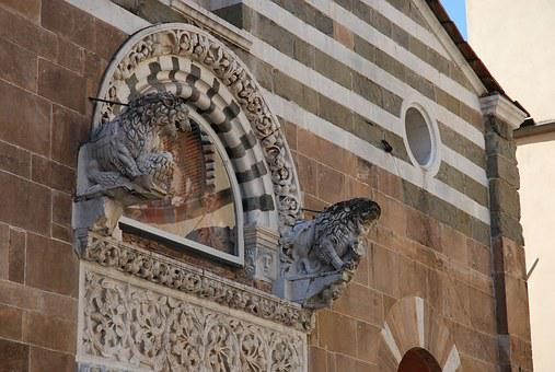 Lucca, Italy, Monuments, Old Building, Culture, History