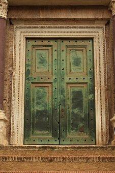 Input, Wooden Door, Double Wing Door, Closed
