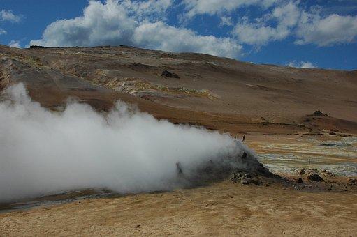 Iceland, Volcano, Elementary, Steam, Energy