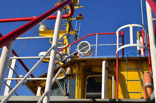 Primary Colors, Ferry, Pipes, Abstract