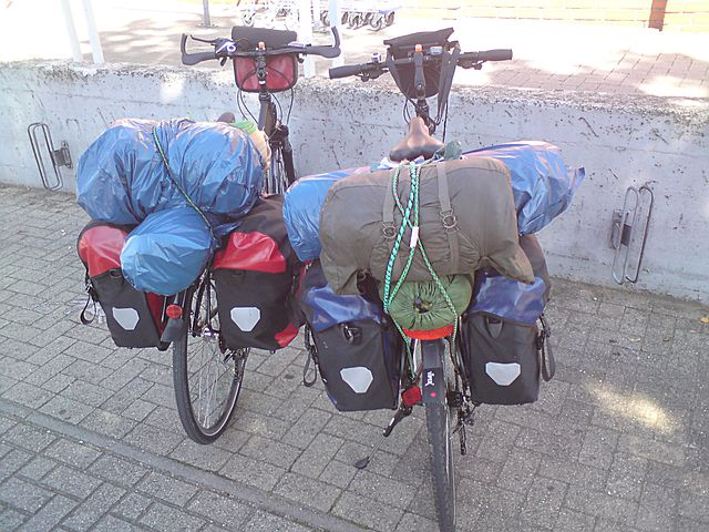 Few Bikes, Luggage, Camping, Holiday