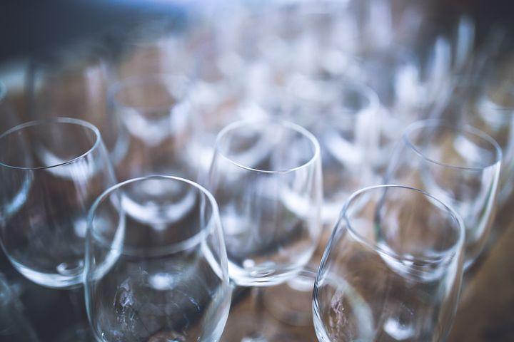 Wine, Glass, Glasses, Decor, Passel, Few