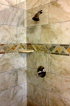 Tile Bathroom, Bathroom, Interior, House, Shower, Clean