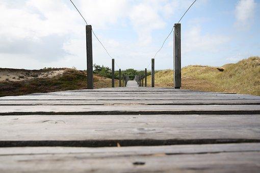 Away, Boardwalk, Dunes, Amrum, Nordfriesland, Island